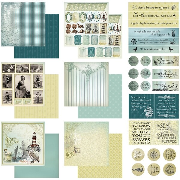 """Couture Creations Collection Kit 12""""X12""""-Sea Breeze"""
