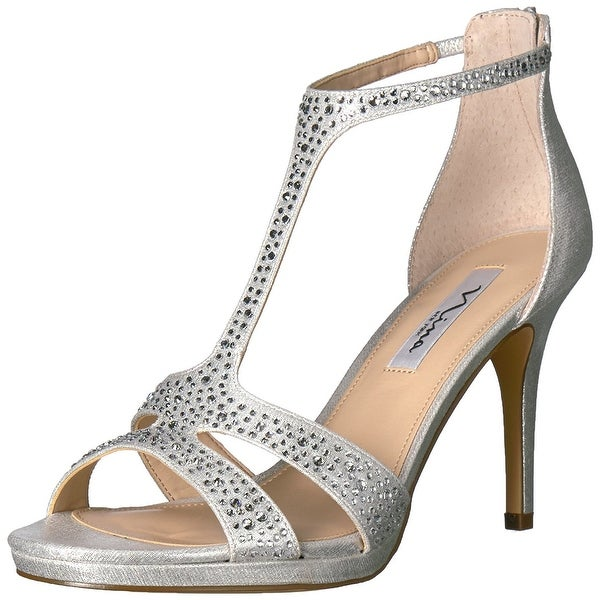 Nina Womens brietta Open Toe Bridal Ankle Strap Sandals