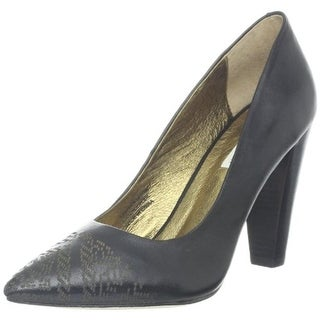 Cynthia Vincent Womens Palma Pumps Leather Detail Toe - 6.5 medium (b,m)