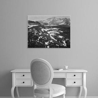Easy Art Prints Ansel Adams's 'Mountains' Premium Canvas Art