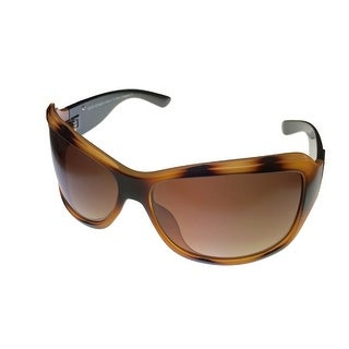 Esprit Womens Sunglass 19374 532 Tortoise Plastic Rectangle, Brown Gradient - Medium