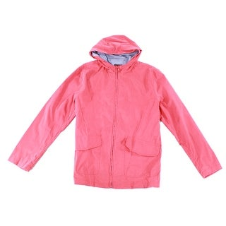 Club Room NEW Scarborough Coral Pink Mens Size Small S Rainwear Jacket