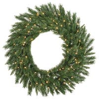 """30"""" Imperial Pine Wreath 50WmWht LED"""