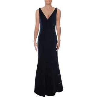 Link to Lauren Ralph Lauren Womens Cleveland Formal Dress Lace Sleeveless - Navy Similar Items in Dresses