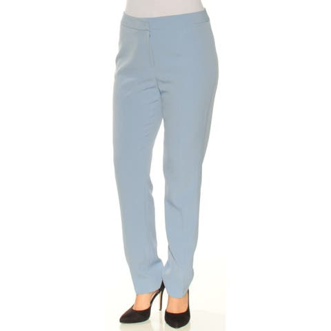 TAHARI Womens Blue Straight leg Wear to Work Pants Size 6