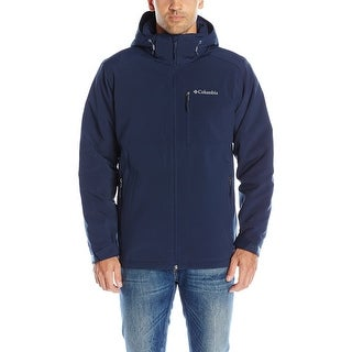 Columbia Blue Mens Size XL Full Zip Hooded Soft Shell Jacket