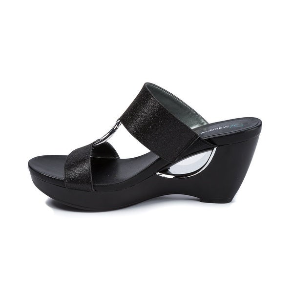 Andrew Geller Aylee Women/'s Sandals Black