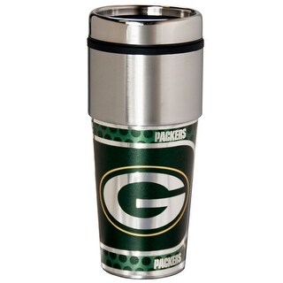 Great American Products Green Bay Packers Travel Tumbler Stainless Steel 16 oz. Travel Tumbler