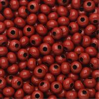 Colored Metal Seed Beads, Round 8/0 Size, 25 Grams, Red