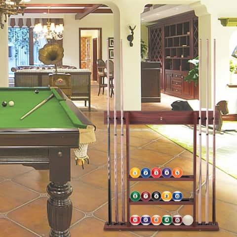 6 Billiard Pool Cue Stick Hanging Wall Mounting Rack