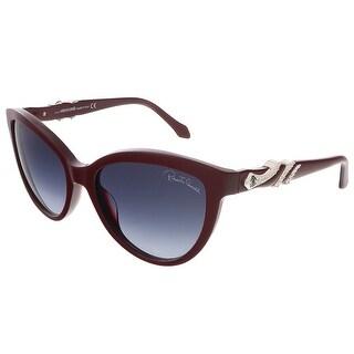 Roberto Cavalli RC878S/S 68W Maroon Cat Eye sunglasses