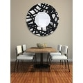 Statements2000 Black / Silver Metal Decorative Wall-Mounted Mirror by Jon Allen - Mirror 108 - Thumbnail 12
