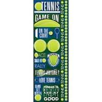 "Tennis - Signature Series Cardstock Combo Sticker 4.25""X12"""