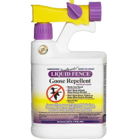 Liquid Fence HG-1466X Goose Repellent, Ready-to-Spray, 1 Qt