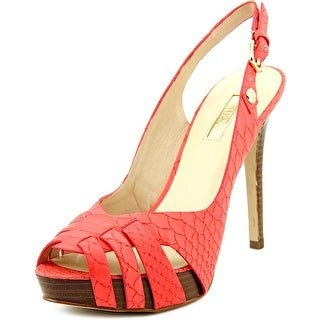Guess Haben Peep-Toe Synthetic Slingback Heel