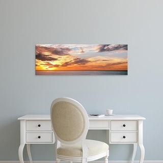 Easy Art Prints Panoramic Image 'Sunset, Pacific Ocean, La Jolla, San Diego, San Diego County, California' Canvas Art