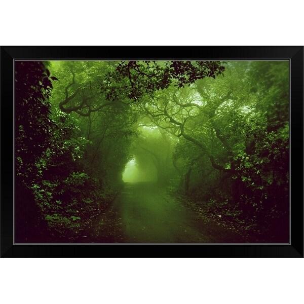 """""""Rainforest"""" Black Framed Print"""