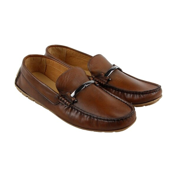 Kenneth Cole New York P Ounce Mens Brown Casual Dress Loafers Shoes