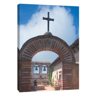 """PTM Images 9-105377  PTM Canvas Collection 10"""" x 8"""" - """"Ca Missions 2"""" Giclee Buildings and Landmarks Art Print on Canvas"""