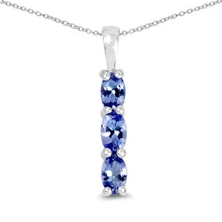 Link to Olivia Leone 0.75 Carat Genuine Tanzanite .925 Sterling Silver Pendant Similar Items in Necklaces