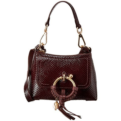 See By Chloe Joan Mini Snake-Embossed Patent Crossbody