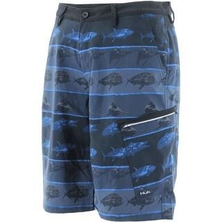 Huk Men's KC Scott Fish Hybrid Dark Grey Size 28 Lite Shorts