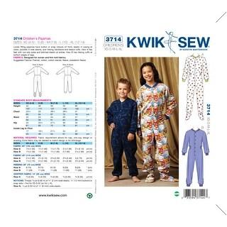 Pajamas-XS (4-5) - S (6) - M (7-8) - L (10) - <b -*SEWING PATTERN*