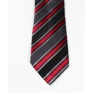 Kenneth Cole Reaction NEW Red Black Men's One Size Tony Stripe Neck Tie