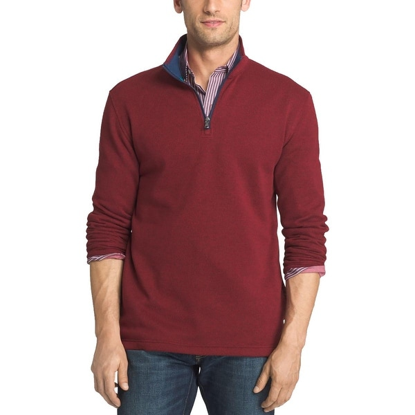 Izod Mens 1/4 Zip Jacket Textured Long Sleeves