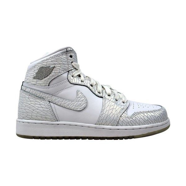 best service 46a0f 88f1c Shop Nike Air Jordan I 1 Retro Hi Premium HC GG White White-Pure Platinum  832596-100 Grade-School - Free Shipping Today - Overstock - 27884045