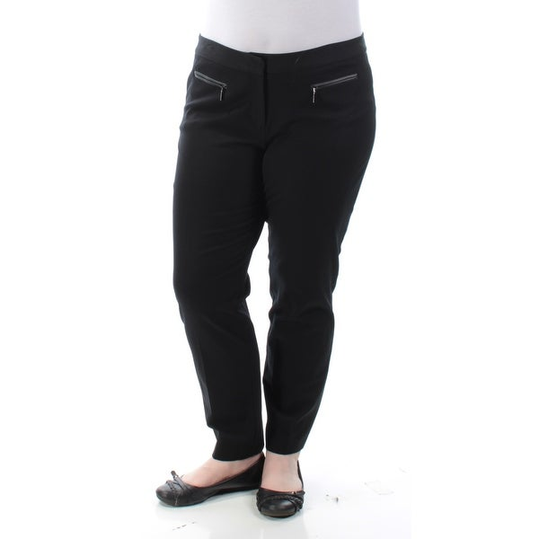 398d11f14 Shop Womens Black Wear To Work Straight leg Pants Size 6 - Free Shipping On  Orders Over $45 - Overstock - 22428785