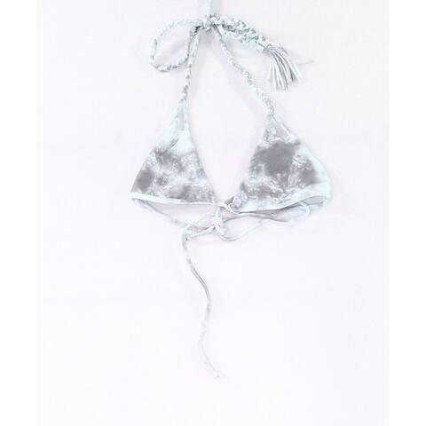 Tori Praver Blue Womens Size Small S Triangle Swimwear Bikini Top