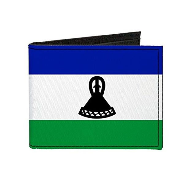 Buckle-Down Canvas Bi-fold Wallet - Lesotho Flag Accessory