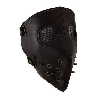 Brown Full Face Spike Studded Facemask