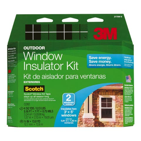 3M 2170W6-6 Outdoor Window Insulator Kit, 2-Window