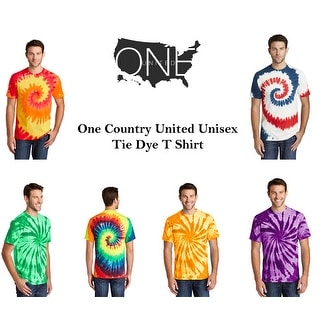Link to One Country United Unisex Tie Dye T Shirt Similar Items in Tops