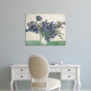 Easy Art Prints Vincent Van Gogh's 'Irises 1889' Premium Canvas Art