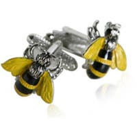 Yellow Jacket Bee Insect  Cufflinks