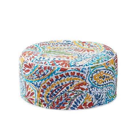 Ove Decors Marlowe 21 in. Inflatable Ottoman Multi Color