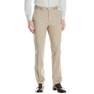 Ralph Lauren Regular Fit Khaki Tan Cotton Flat Front Dress Pants 36W x 34L
