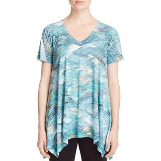 Nally & Millie Womens Casual Top Burnout Printed