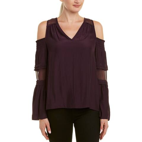 Ramy Brook Faretta Silk-Trim Top