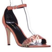 Seven Dials Wickford Ankle Strap Sandals, Coral - 7 us