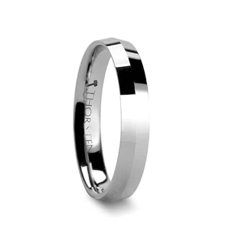 SHOGUN Knife Edge Tungsten Wedding Band - 4mm