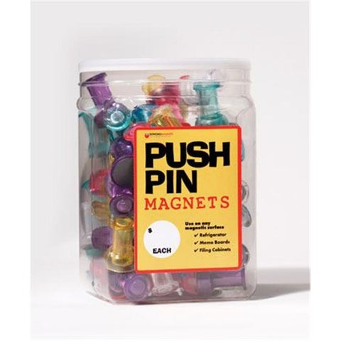 Dowling Magnets DO-735016 72 Jumbo Push Pins In A Bucket