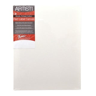 Fredrix Artist Series Stretched Canvas, 14 x 18 in, White
