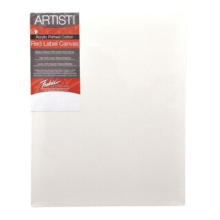 Fredrix Artist Series Stretched Canvas, 20 x 24 in, White