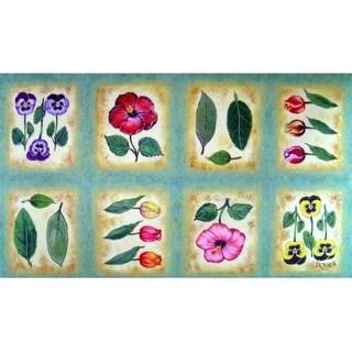 Custom Printed Rugs Dm-03 Botanica Flower Tiles Door Mat