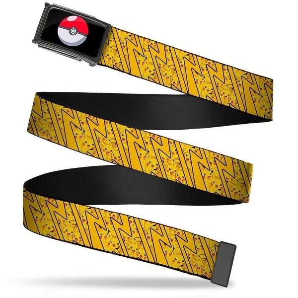 Poke Ball Fcg Chrome Pikachu Poses Stacked Rays Yellows Webbing Web Belt