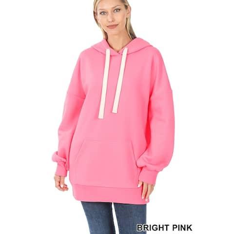 JED Women's Comfy Fit Long Length Hoodie Sweatshirt